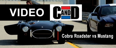 Video Shootout Shelby Cobra Roadster vs Shelby Mustang